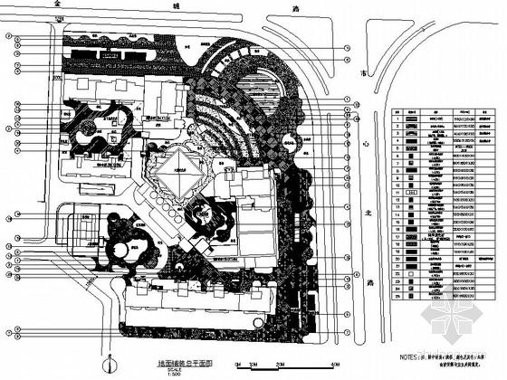 [萧山]商住两用楼屋顶花园园林景观工程施工图