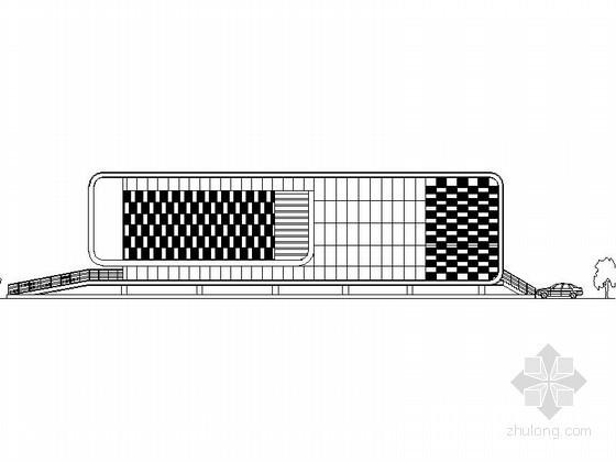 某二层规划展览馆建筑方案图(含效果图)