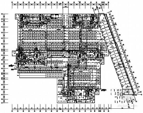 大型地下室电气施工图纸(车库、设备房、商铺)