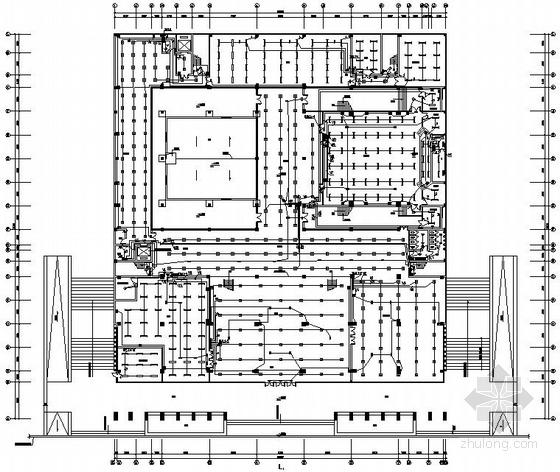 某学校四层图书馆电气施工图