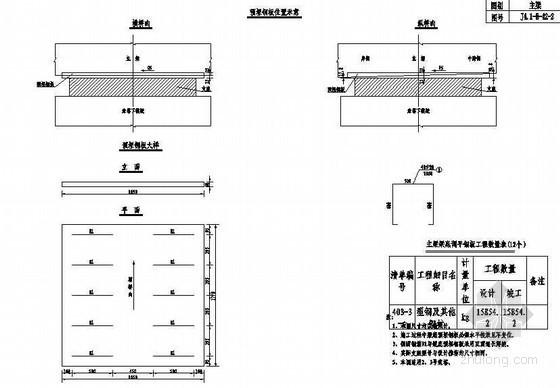 双塔双索面斜拉桥主梁梁底调平钢板构造节点详图设计