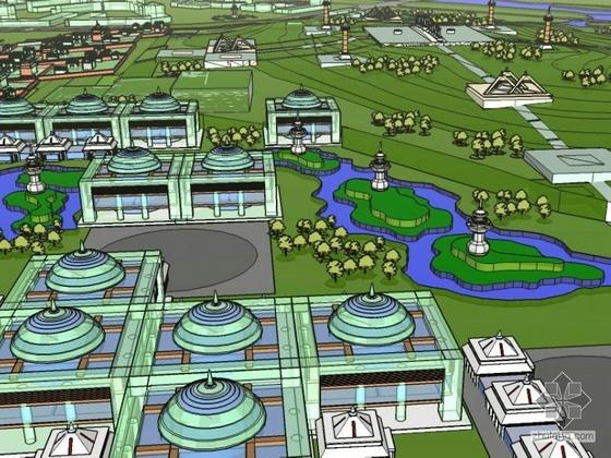 内蒙古广场周边景观设计效果图