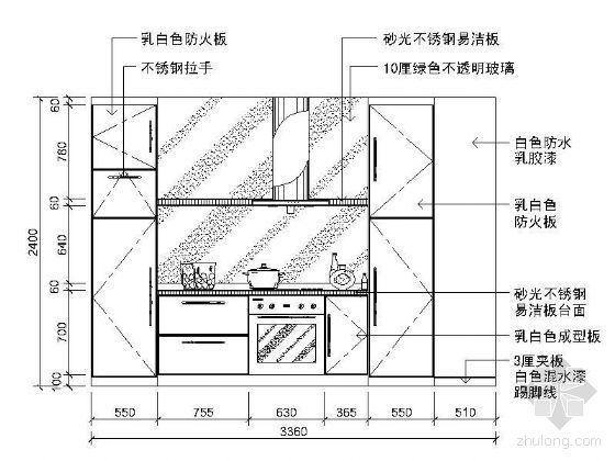 [分享]室内厨房cad立面图资料下载