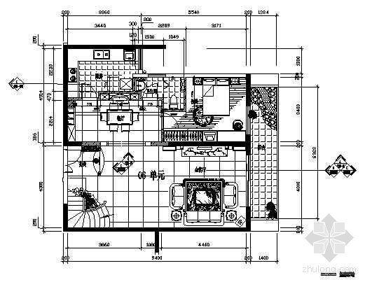 某样品房楼中楼户型施工图