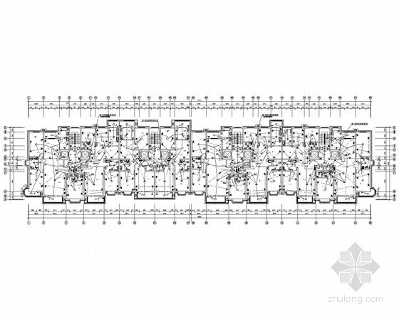[河北]二类高层小区住宅楼全套电气施工图纸