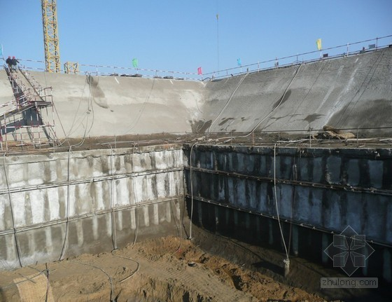 建筑工程沿海滩涂地区深基坑支护施工工法(土钉墙和护坡桩相结合)