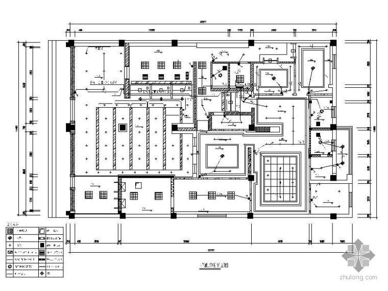 [济南]中国工商银行某支行营业厅室内装修平面图_2