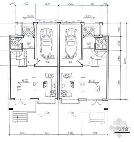 某别墅平面图及效果图5