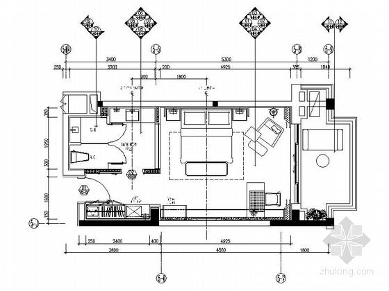 [三亚]海滨半岛接待中心现代客房装修施工图(含效果)