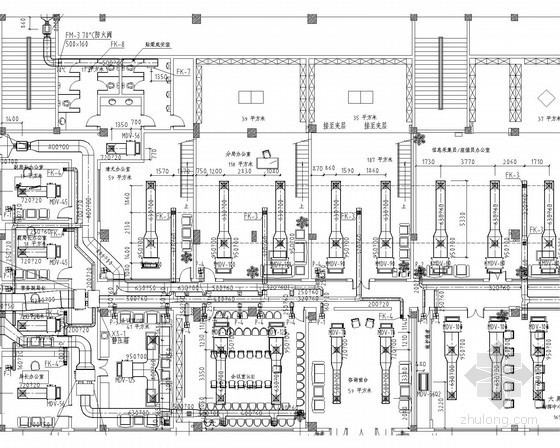 [广东]办公楼首层空调通风工程系统设计施工图(直流变频系统)