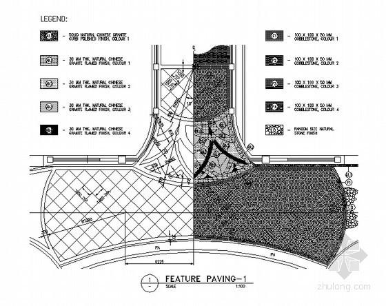 道路节点铺装平面图