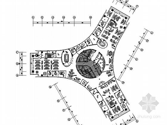 [苏州]中国商业地产一级资质现代办公楼装修施工图(含电图)
