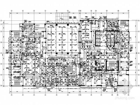 [江苏]医院病房楼暖通动力全套施工图纸(净化手术室 供氧工程)