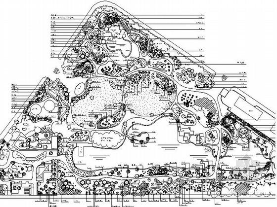 某地滨海公园景观绿化施工图