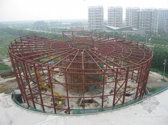 [QC成果]67m大跨度圆形钢结构屋架施工方法创新研究(原创首例)