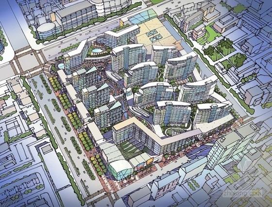 [上海]商业区规划及单体设计方案文本