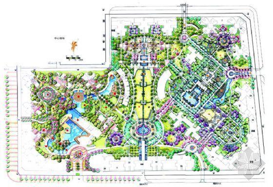 某住宅小区规划手绘方案
