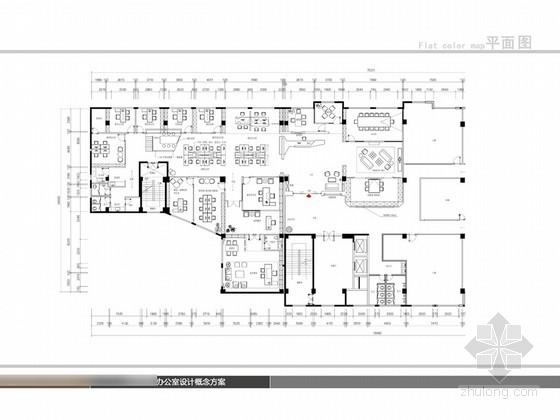 [泉州]现代风格办公室室内方案设计图