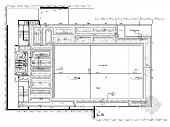 [重庆]室内恒温游泳馆除湿空调及地暖采暖系统设计施工图