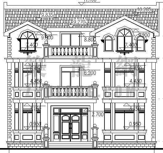 某别墅全套建筑施工图
