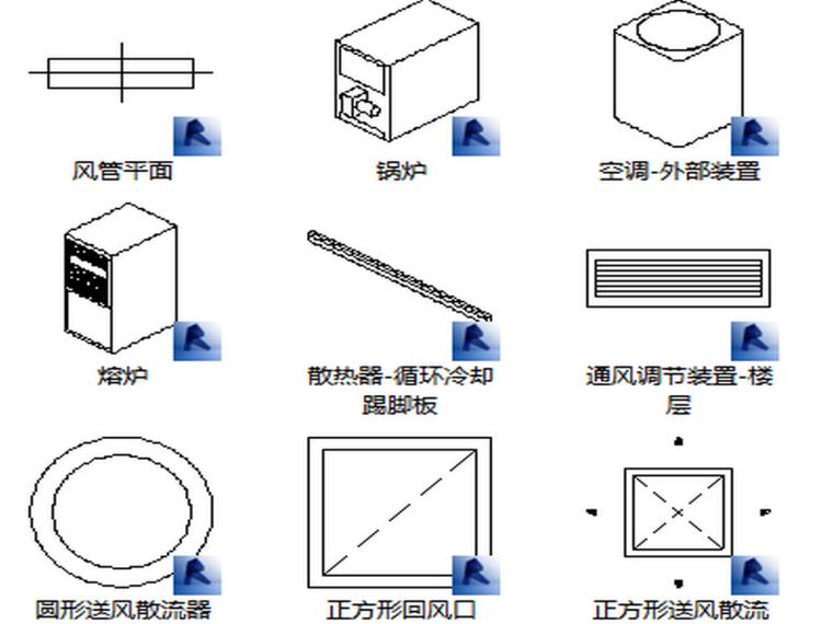 BIM族库-暖通-空气处理设备-机械设备