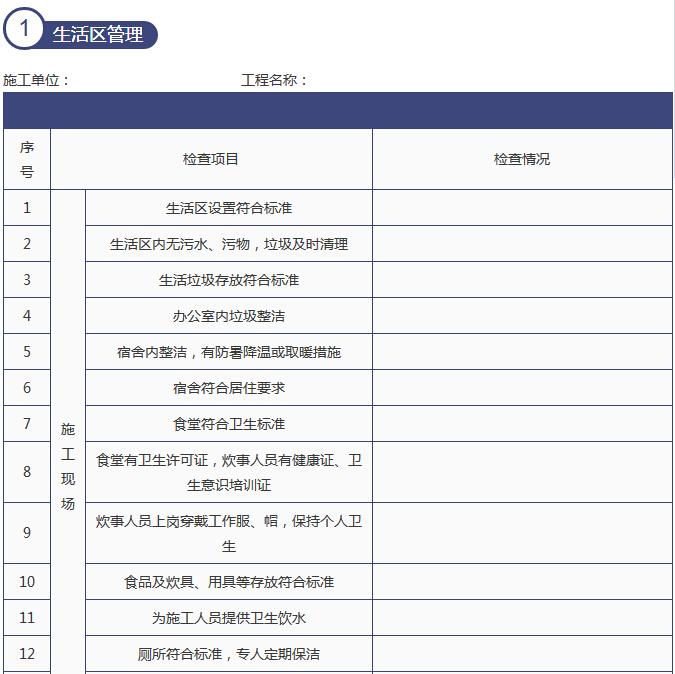 建筑施工单位节后复工10个安全检查表_2
