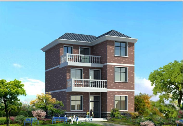 3层新农村独栋别墅砖混结构