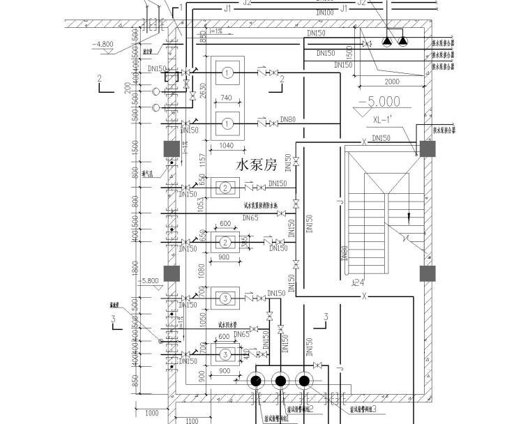 某七层停车库给排水和消防图纸_3