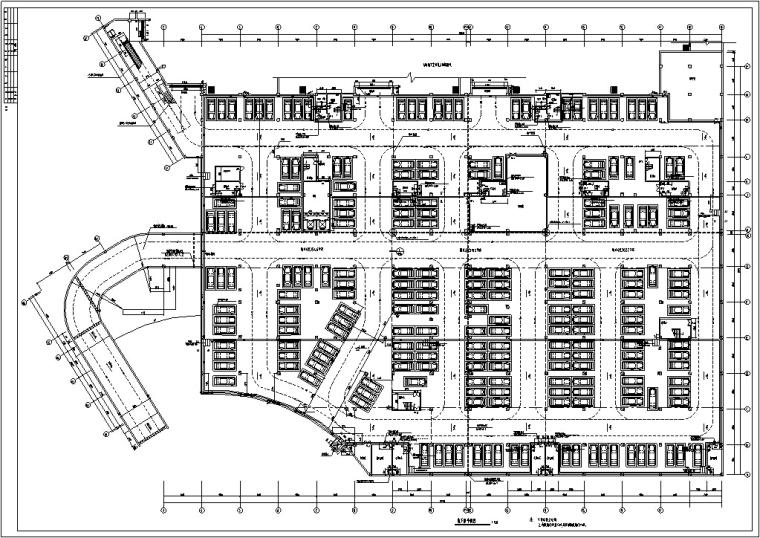 3套商住综合楼建筑设计施工图CAD-黄金海岸商住综合楼地下室平面图