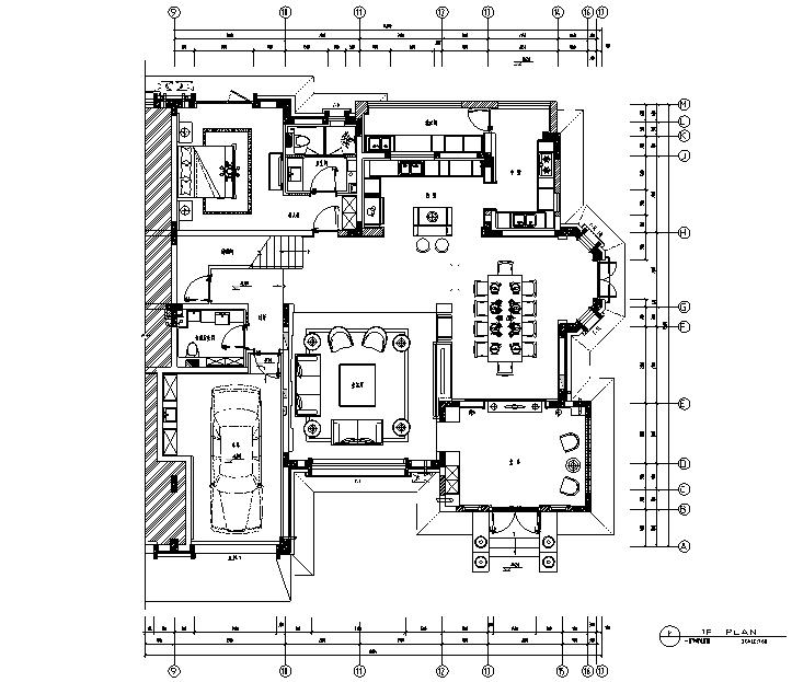 u形厨房装修效果图资料下载-青墨雅涵|东方优雅别墅设计施工图(附效果图)