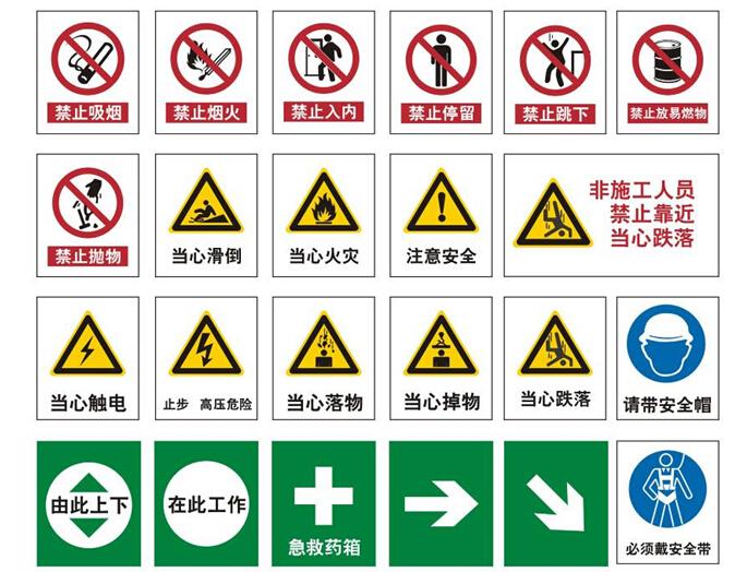 安全标识按规范规定的图案