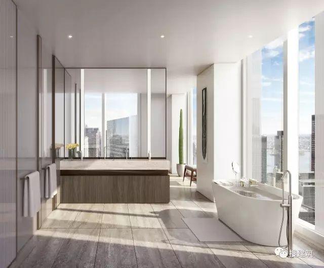 """万科在纽约开发的""""新地标住宅"""",高200米,1000-1600平方英尺的_22"""