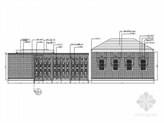 [重庆]高档豪华欧式风格酒店式别墅室内装修施工图(含效果图)-图6