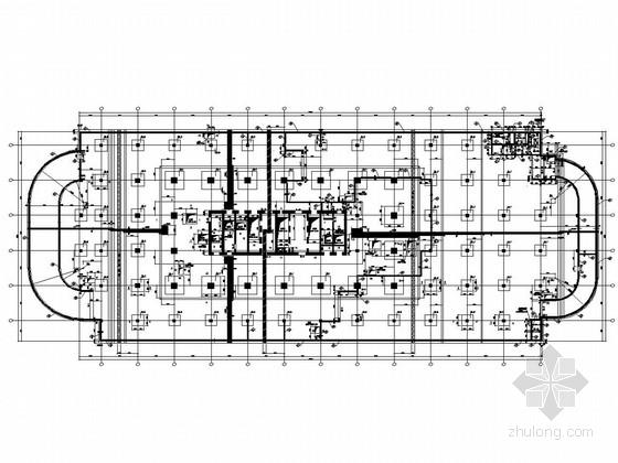 37层框架核心筒结构超高层综合办公楼结构施工图(地标建筑、带停机