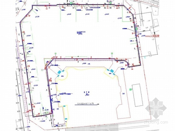 [安徽]11米深基坑桩锚及土钉墙支护施工图