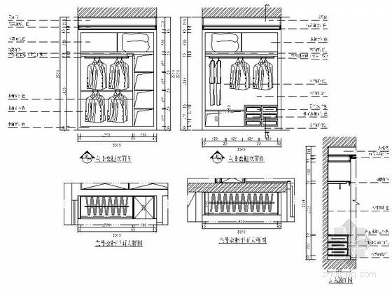 [沈阳]度假生活区古典简欧五居室装修图(含效果)主卧室衣柜立面图