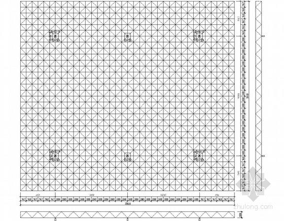 砌体结构加气站结构施工图(罩棚钢结构 网架结构)
