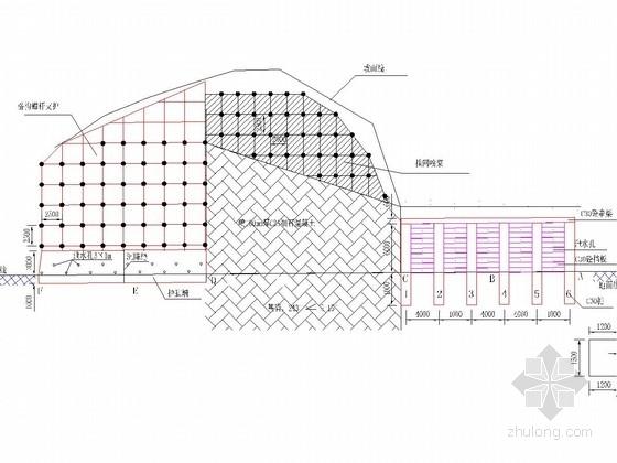 [湖南]格构锚杆边坡支护施工图(含计算书)