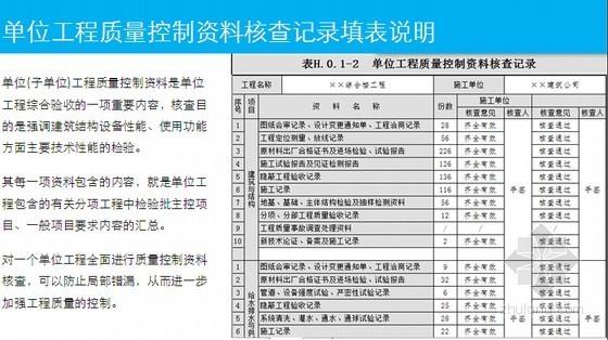 房建工程施工质量验收资料表格填写实操讲义(2013版验收标准)
