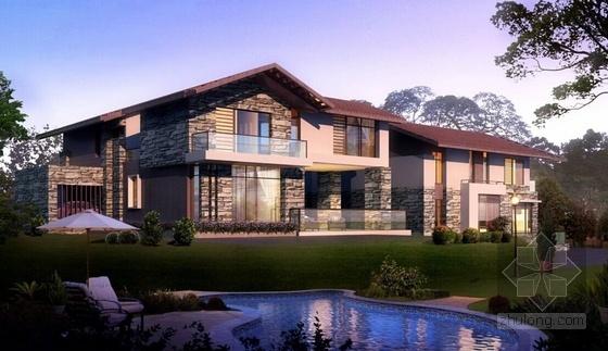 [立面改造]西班牙建筑风格别墅住宅小区立面改造方案文本-西班牙建筑风格别墅住宅立面图
