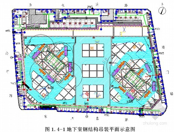[上海]商业办公楼工程地下室钢构件吊装施工方案