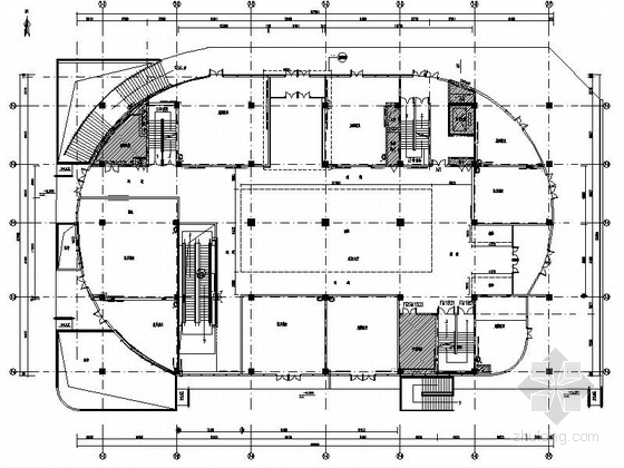 [鄂尔多斯]大型私营企业集团现代高档批发楼装修施工图(含效果)