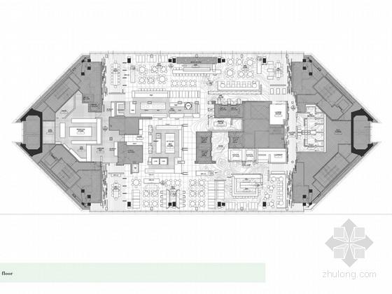 [上海]精致摩登中国式住宅酒店酒吧餐厅设计方案