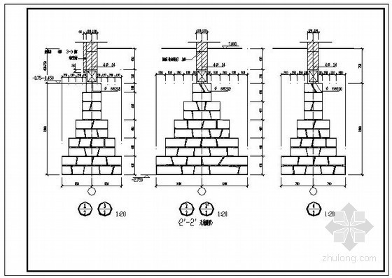 某砖条形基础节点构造详图