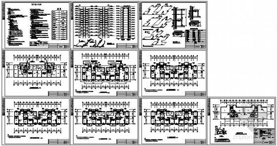 陕西某小高层建筑采暖设计全套图纸