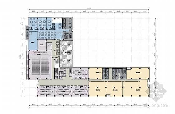 [湖南]点式塔楼高层科技办公大厦建筑设计方案文本-点式塔楼高层科技办公大厦各层平面图