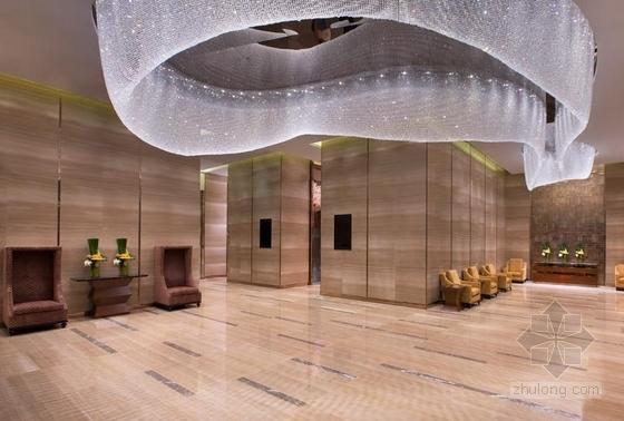 [浙江]全球国际化金融中心高档现代风格综合性酒店装修施工图(含效果)宴会厅前厅效果图
