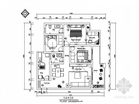 优雅现代风格三居室装修图(含效果图)