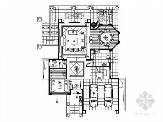 [南京]温馨简约二层小别墅装修设计cad施工图(含物料明细表)