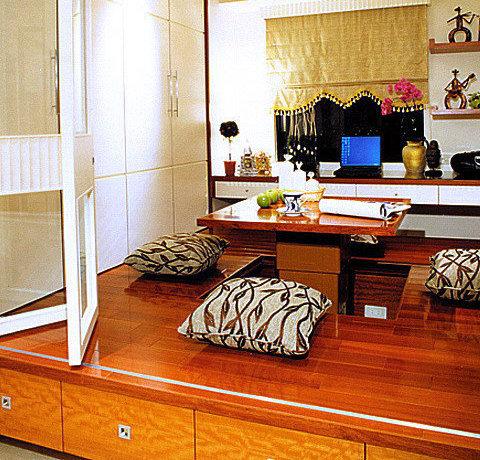 92平方米新古典二房二厅客厅装修效果图_7